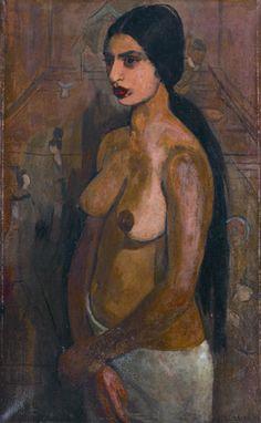 Amrita SHER-GIL/Selbstporträt als Tahitianerin, 1934,