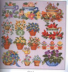 2001 cross stitch designs /01 fllorals (вышивка) - Рукодельница - ТВОРЧЕСТВО РУК - Каталог статей - ЛИНИИ ЖИЗНИ