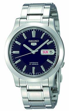 Seiko Men's SNK793 Seiko 5 Automatic Blue Dial Stainless-Steel Bracelet Watch splendid http://www.shop.com/sophjazzmedia/hJewelry-~~blue+watches-internalsearch+260.xhtml