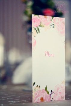 #menu     #wedding #day #paper #decorations #elegant #style #white #pink #stationery #bride #groom #wesele #ślub #elegancki #styl #biel #róż #papeteria #pannamłoda #panmłody
