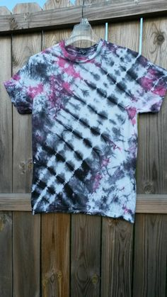 Tie Dye Shirt Black and Pink Tie Dye Shirt by MessyMommasTieDyes