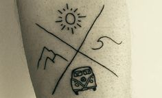 14 Strikingly Minimalistic Wanderlust Tattoos Every ...