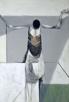 Le Brocquy, Louis  Lazarus,1954  Oil on canvas