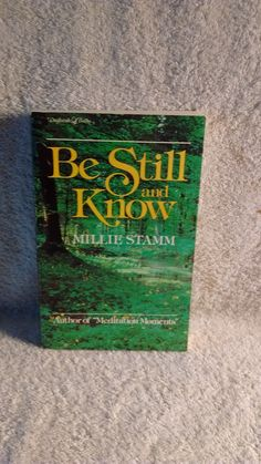 Be Still and Know by Millie Stamm c 1978 by Artisticflea on Etsy