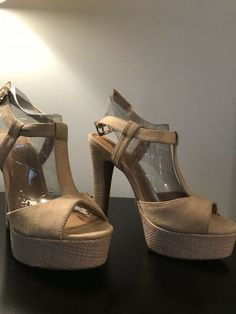 0176f0f259 Sexy Tan Faux Suede Heels  fashion  clothing  shoes  accessories   womensshoes  heels (ebay link)