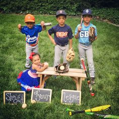 She's out of your league, 3 boys & a baby girl, baseball family, 3 brothers & 1 sister<br> Sister Pictures, Baby Girl Pictures, Baby Photos, Brother Sister Photos, Family Pictures, Tips And Tricks, Mother Daughter Relationships, Family Picture Poses, Family Goals