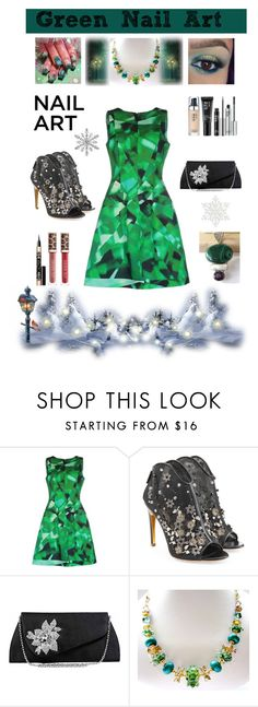 Green With Envy: Wintery Nail Polish by belladonnasjoy on Polyvore featuring beauty, Oscar de la Renta, Rupert Sanderson and Lise Watier