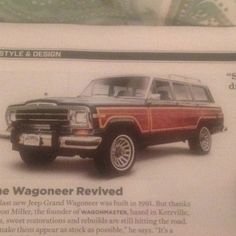 Jeep Grand Wagoneer....totally want one of these!