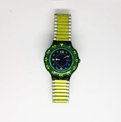 Green Swatch Watch for men Swatch watches for men Ladies Steampunk Watch, Antique Items, Casio Watch, Happy Shopping, Bracelet Watch, Watches For Men, I Am Awesome, Etsy, Women's