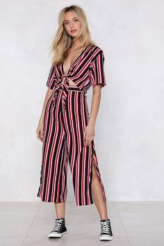 318beb8891 Get Straight to It Striped Crop Top and Pants Set | Shop Clothes at Nasty  Gal