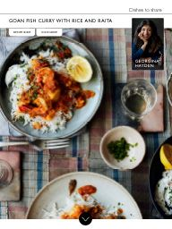Waitrose & Partners Food February Goan fish curry with rice and raita Curry Rice, Fish Curry, Bone Broth, Curries, Photoshoot Inspiration, Whole30, February, Paleo, Breakfast