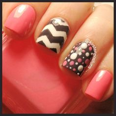 Chevron nails - Want to save 50% - 90% on women's fashion? Visit http://www.ilovesavingcash.com