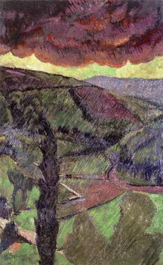 Rain, Paul Sérusier ,1909, oil on canvas, 91.4 cm (35.98 in.), Width: 56.1 cm (22.09 in.), Private collection