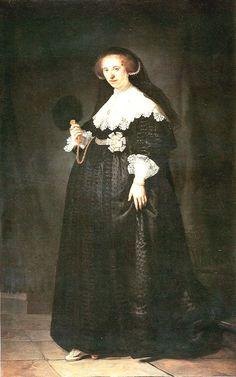 Portrait of Oopjen Coppit. Retrato de Oopjen Coppit. Rembrandt. 1634.