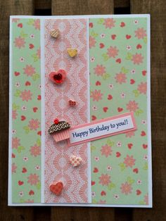 Happy Birthday to you Card by ThePrairiePaperShed on Etsy