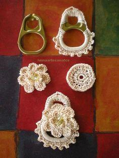 Watch The Video Splendid Crochet a Puff Flower Ideas. Phenomenal Crochet a Puff Flower Ideas. Crochet Motifs, Bead Crochet, Crochet Stitches, Crochet Patterns, Crochet Buttons, Crochet Earrings Pattern, Crochet Necklace, Crochet Jewellery, Pop Top Crochet