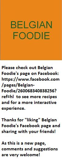 Check out Belgian Foodie's Facebook page at https://www.facebook.com/pages/Belgian-Foodie/260068340838256?ref=hl and share with friends!