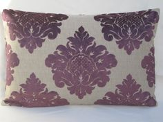 John Lewis VENETO VELVET DAMASK Cassis Purple by MoGirlDESIGNS- maybe I can order this fabric for seat cushions?