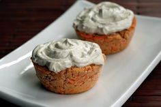 Enlightened Raw Carrot Cupcakes with Apple Cashew Frosting