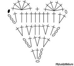 сердечко крючком схема Crochet Art, Cute Crochet, Heart Patterns, Knit Patterns, Ohio State Colors, Crochet Bookmarks, Crochet Decoration, Heart Pillow, Valentine Special