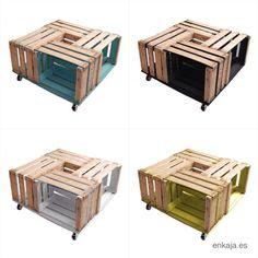 Afficher l'image d'origine Furniture Makeover, Wood Furniture, Apple Crates, Fruit Box, Wood Boxes, Wood Crafts, Ikea, Decorative Boxes, Diy
