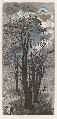 Winter: Rooks and Rain | Gertrude Hermes | 1950, V Museum