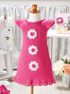 Crochet - Touch of Lace Baby Dress - #EC01162
