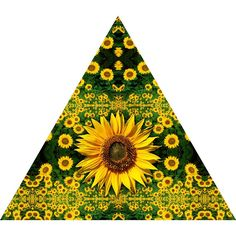 Sunflower Field Nature Themed Fabric Wall Sticker (Triangle)