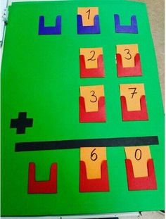 -March -Math addition -This activity gives children the ability to be hands on with the concept of addition or even subtraction Math For Kids, Fun Math, Math Games, Math Activities, Math Math, Math Boards, Second Grade Math, Grade 2, Math Numbers