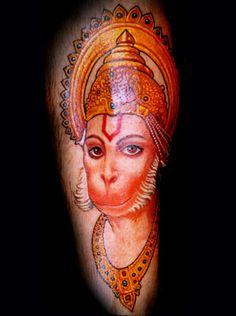 Amazing Hanuman Tattoo by Chris Garver - Amazing Hanuman Tattoo by Chris Garver - Geisha Tattoos, Hindu Tattoos, Body Art Tattoos, Tattoo Art, Tatoos, Hanuman Tattoo, Kali Tattoo, Chris Garver Tattoo, Japanese Dragon Tattoos