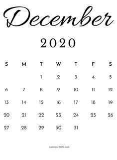 December 2020 blank calendar printable template free download to make monthly and weekly schedule instantly. #december #calendar2020 #blank #template #december2020 #blankcalendar Blank Calendar, Calendar 2020, Calendar Printable, Templates Printable Free, Printables, Quote Template, Calendar Wallpaper, Trip Planning, December
