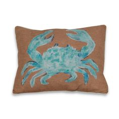 @Overstock.com - Water Color Crab 16 x 20-inch Decorative Throw Pillow - Add a touch of the beach to home decor with this color crab pillow on polyester fabric with feather fill. The pillow features knife edging along with a removable hidden zipper closure.  http://www.overstock.com/Home-Garden/Water-Color-Crab-16-x-20-inch-Decorative-Throw-Pillow/7872957/product.html?CID=214117 $29.99