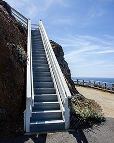 "Stairway to Point Sur Lighthouse, Big Sur, California - Matted Photo Art Print, 11""x 14"" Romagosa Fine Arts http://www.amazon.com/dp/B017474C8M/ref=cm_sw_r_pi_dp_pXdlwb1CE1BGT"