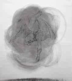 Mircea Suciu  Double Trouble, 2011 charcoal on paper 170 x 150 cm