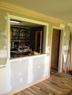 In Part Two of our Farmhouse Kitchen Remodel, I'm sharing how we opened up a load bearing wall to create a brighter kitchen by installing a Pass Through from the Dining Room. This kitchen was VERY dark. Here's a before:…