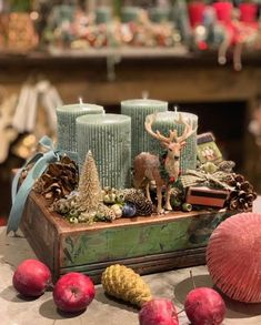 Christmas Home, Christmas Crafts, Christmas Decorations, Xmas, Table Decorations, Advent Wreath Candles, Gifts For Family, Homemade Gifts, Flower Arrangements