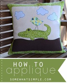 When we get really good at appliqué, we can use to draw a picture with thread and fabric. Cool, huh?