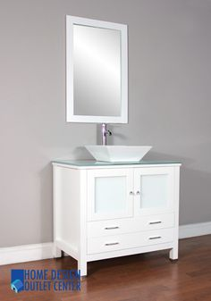 """AW-125-36-W 36"""" Single Modern Bathroom Vanity Set 
