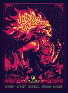 Rock and Roll Marathon Ad Series on Behance