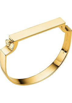 MONICA VINADER - Signature 18ct yellow-gold vermeil bangle | Selfridges.com