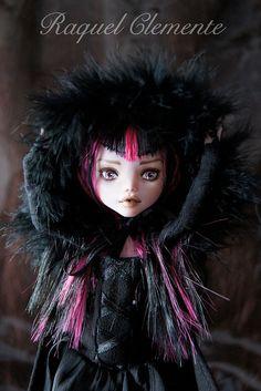 OOAK Monster High doll Draculaura Mattel repaint custom by Deliciously forbidden