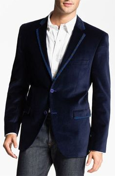 Men's navy blazer - see more at http://themerrybride.org/2014/08/07/groom-ideas/
