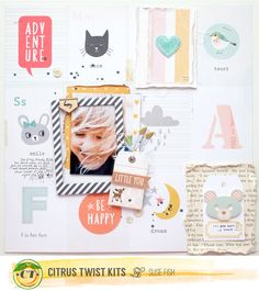 Citrus Twist September 2015 kit crate paper wonder