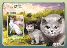 Post stamp São Tomé and Príncipe ST 14501 bCats (Colorpoint Shorthair)