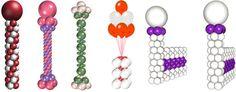 to Make Balloon Columns - Bing Images Balloon Pillars, Balloon Tower, Ballon Arch, How To Make Balloon, Love Balloon, Balloon Ideas, Ballon Decorations, Balloons And More, Balloon Animals