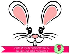 Easter Bunny Rabbit Face SVG / DXF Cutting File for Cricut Design Space / Silhouette & PNG Clipart, Digital Download, Commercial Use Ok by DigitalGems on Etsy
