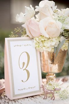 Giracci Vineyards Wedding Reception Guest Table Number in Gold and a Hint of Blush PInk, rose gold wedding table decor Pink Wedding Blush Wedding Gold Wedding Pink And Gold Wedding, Gold Wedding Theme, Rose Wedding, Wedding Themes, Wedding Ideas, Trendy Wedding, Rose Gold Weddings, Dream Wedding, Wedding Inspiration