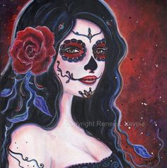 Catania Day of the Dead print  By Renee L. by TheArtOfReneeLLavoie