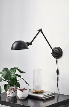 Køb Nordal AURA væglampe - cm - sort her. Desk Lamp, Table Lamp, Auras, Sorting, Lighting, Design, Home Decor, Kitchen Ideas, Lamps