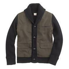 Boys' utility sweater-jacket